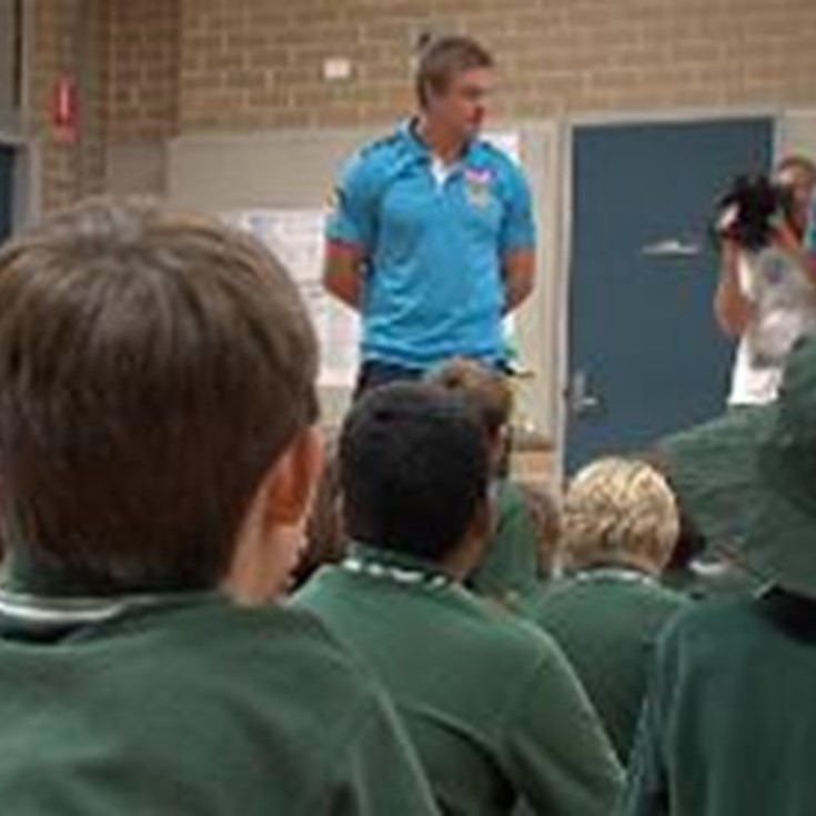 Titans stars thrilled to help tackle bullying