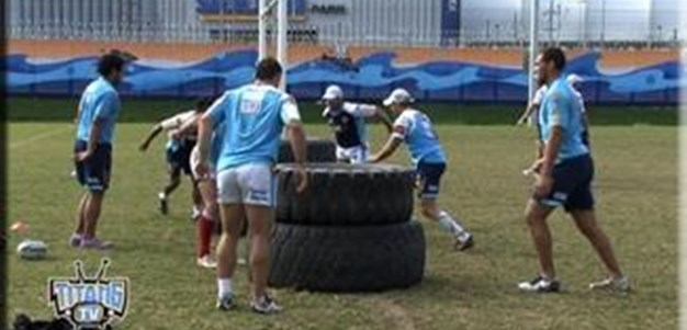 Titans Conditioning Towards the Finals