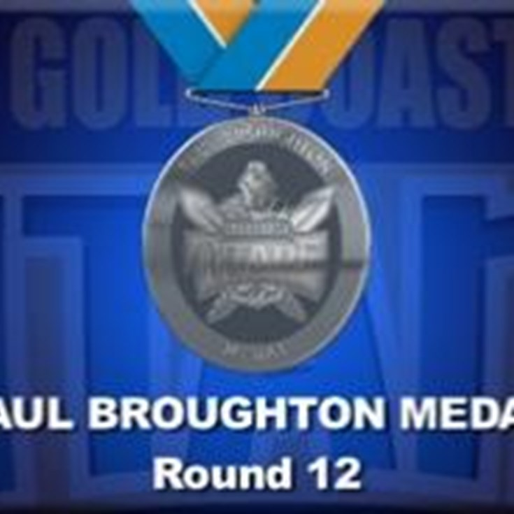 Paul Broughton Medal Points for Round 12
