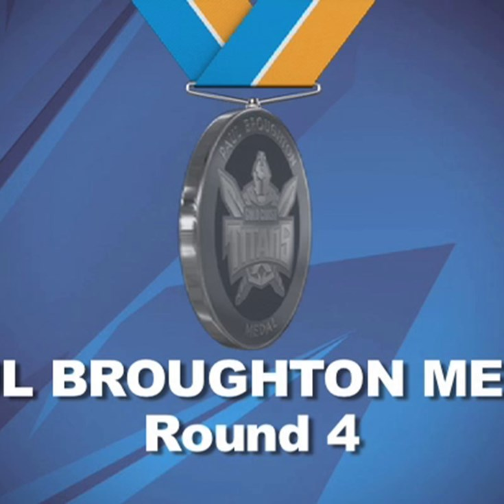 Paul Broughton Medal Points - Round 4