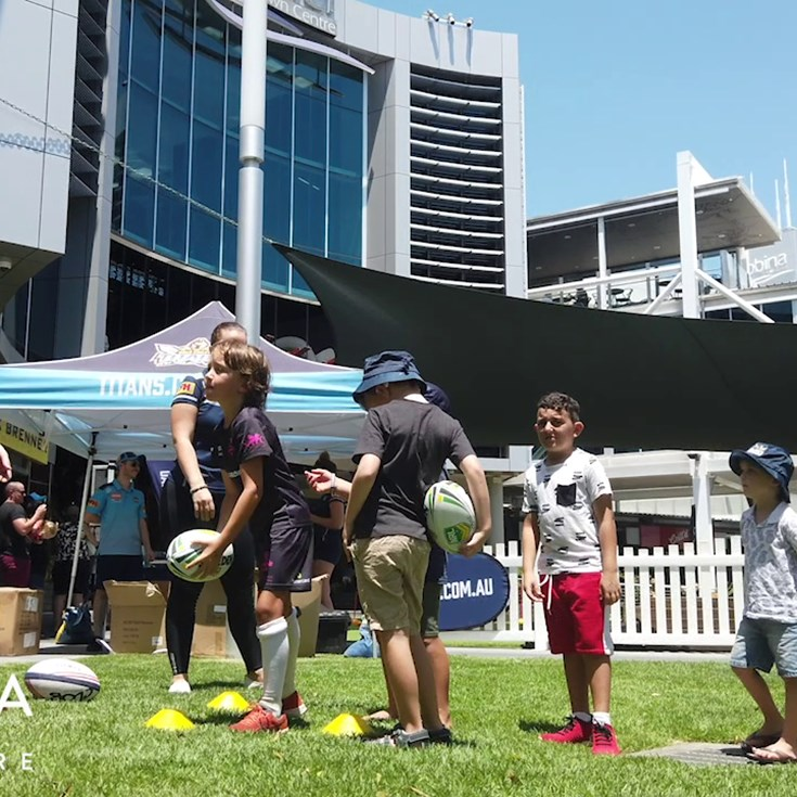Titans Host Summer Clinic at Robina Town Centre