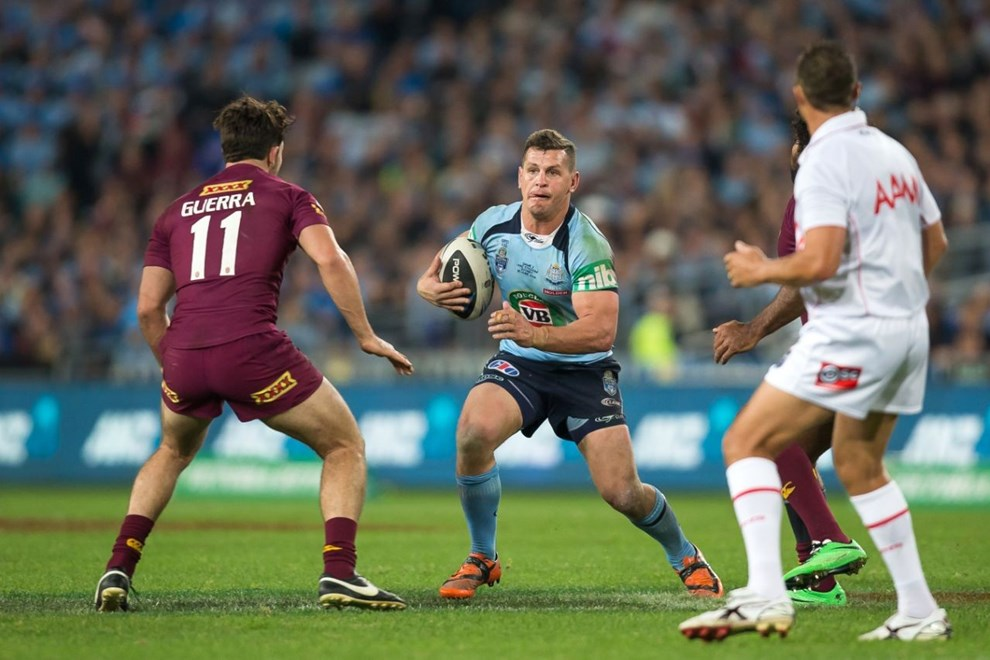 GREG BIRD - STATE of ORIGIN GAME 2 - NSW BLUES V QLD MAROONS played at ANZ Stadium, Sydney, Australia, Wednesday, 18 Jun 2014. Photo: Murray Wilkinson (SMP Images).