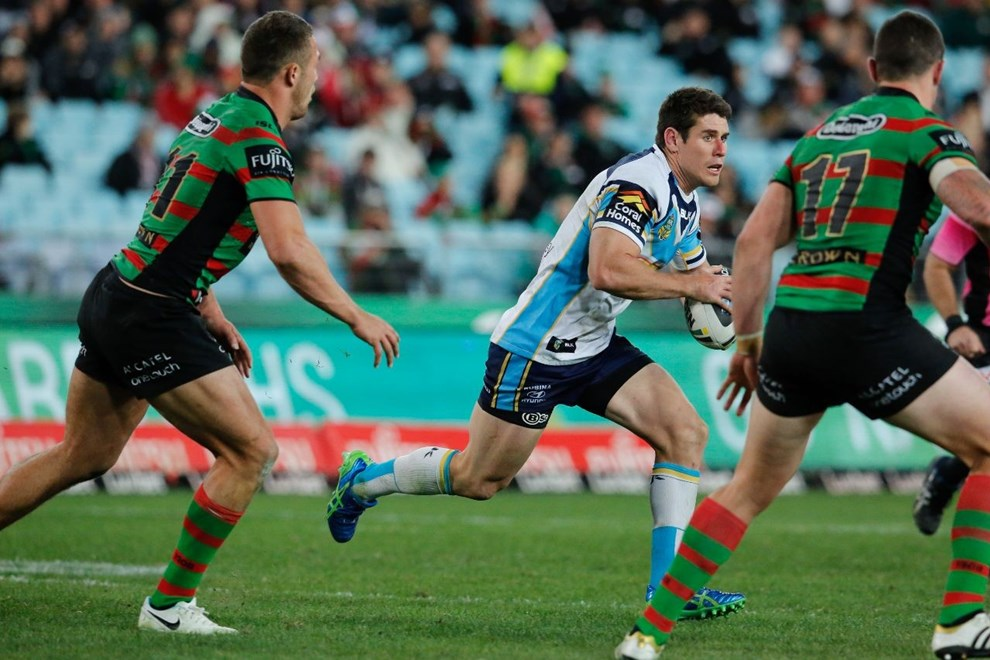 CODY NELSON GOLD COAST IN ACTION National Rugby League action, South Sydney Rabbitohs VS Gold Coast Titans at ANZ Stadium 7 July 2014. pic Dave Tease SMP Images