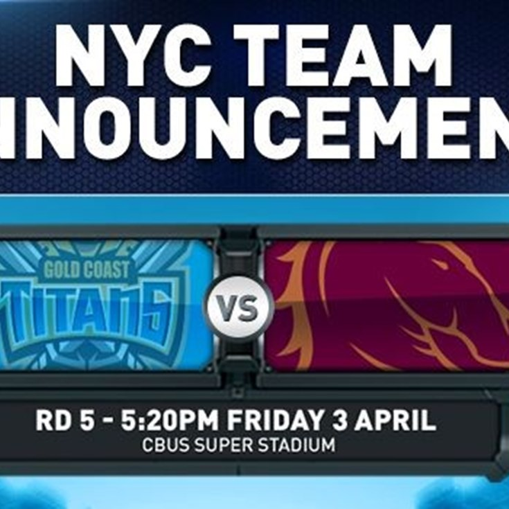 Rd 5 NYC Team Announcement