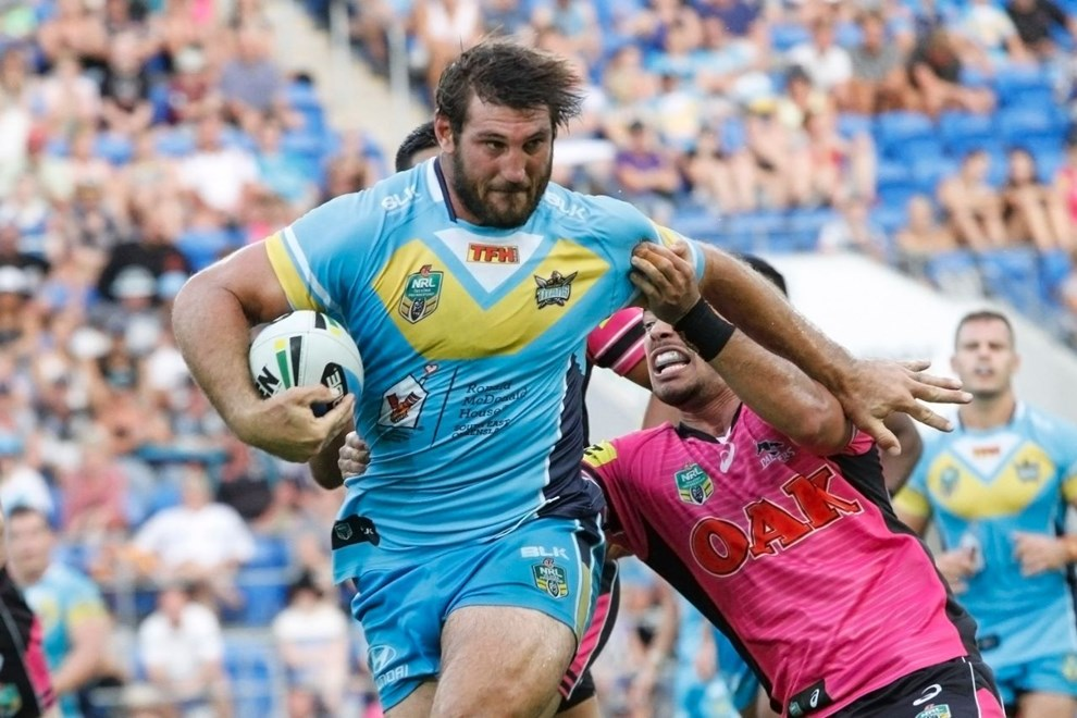 Dave Taylor : Digital Image by Kylie Cox, copyright @ NRLphotos. NRL, Round 7, Gold Coast Titans v Penrith Panthers at Cbus Super Stadium, Gold Coast, Saturday April 18th 2015.