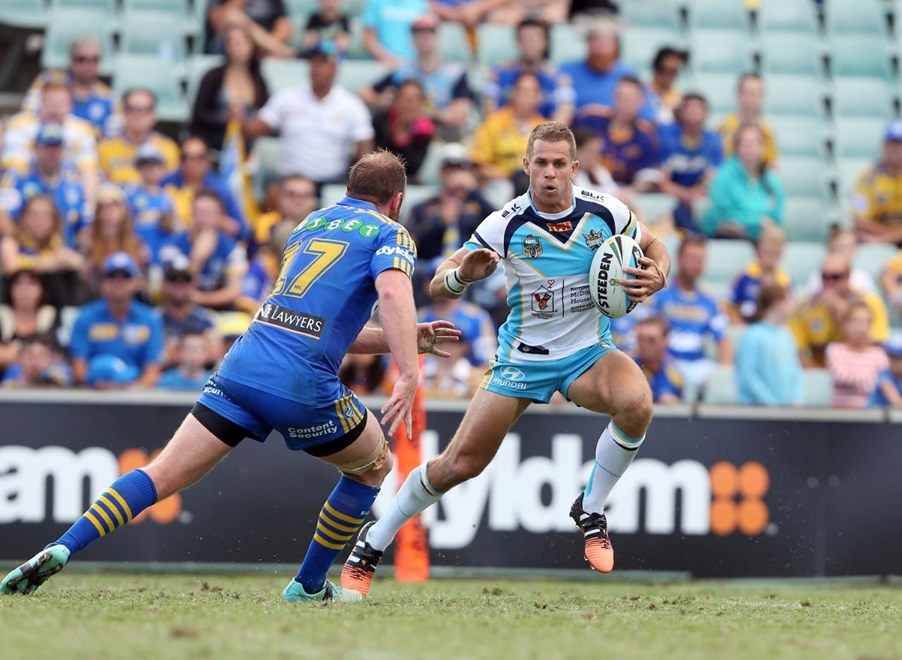 William Zillman : Digital Image by Robb Cox ©nrlphotos.com: :NRL Rugby League - Eels V Titans at Pirtek Stadium, Parramatta. Saturday April 11th 2015.