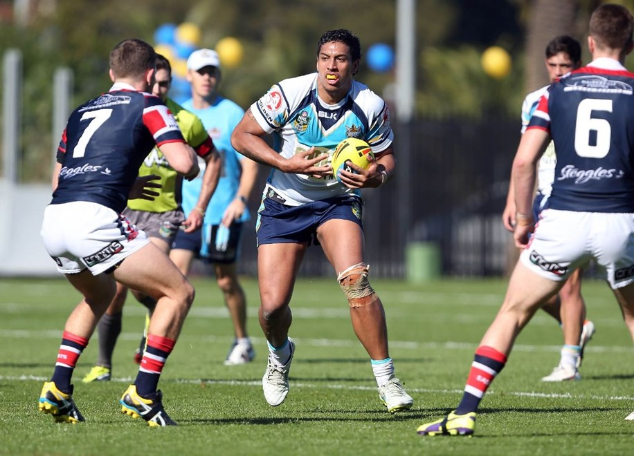 :NYC Rugby League - Roosters V Titans, at Central Coast Stadium, Sunday June 28th 2015. Digital Image by Robb Cox ©nrlphotos.com