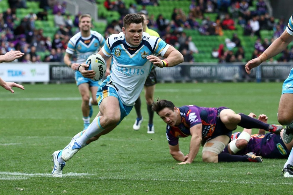 James Roberts   Digital Image by Brett Crockford ©nrlphotos.com :	    NRL, Rugby League, Round 22,  Melbourne Storm v Gold Coast Titans @ AAMI Park, Melbourne, VIC, Sunday 09 August, 2015.