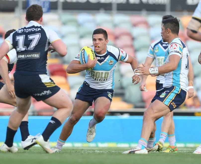 :		Digital image by Colin Whelan © copyright nrlphotos.com                     NYC  Rugby League, Round 26, North Queensland Cowboys v Gold Coast Titans at Townsville, Saturday September 5th 2015