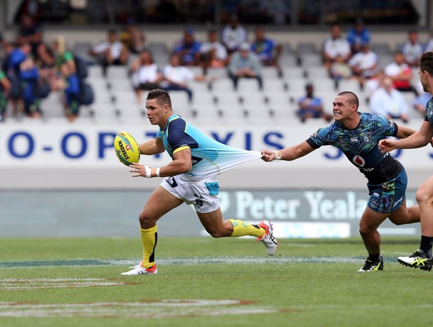 James Roberts during the Titans V Warriors Auckland 9s match at Eden Park. Pic by Robb Cox © NRL Photos