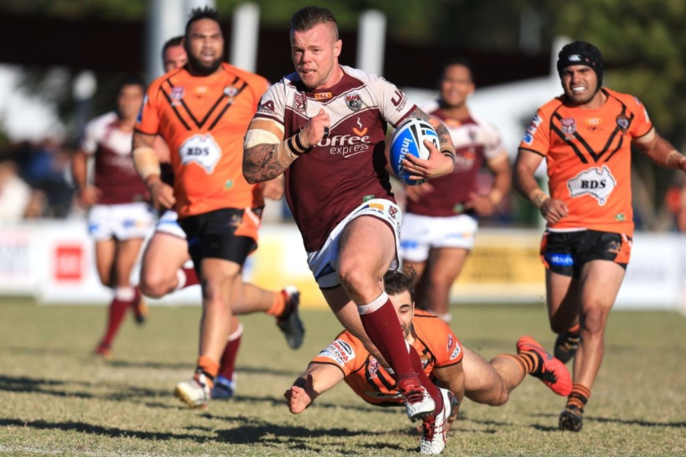 Luke PAGE (BURLEIGH BEARS) - PHOTO: SMP IMAGES / QRL Media - Action from the round 13 of Queensland Rugby League (QRL) Intrust Super Cup match between the Burleigh Bears v Easts Tigers, played at Pizzy Park Miami, Queensland.