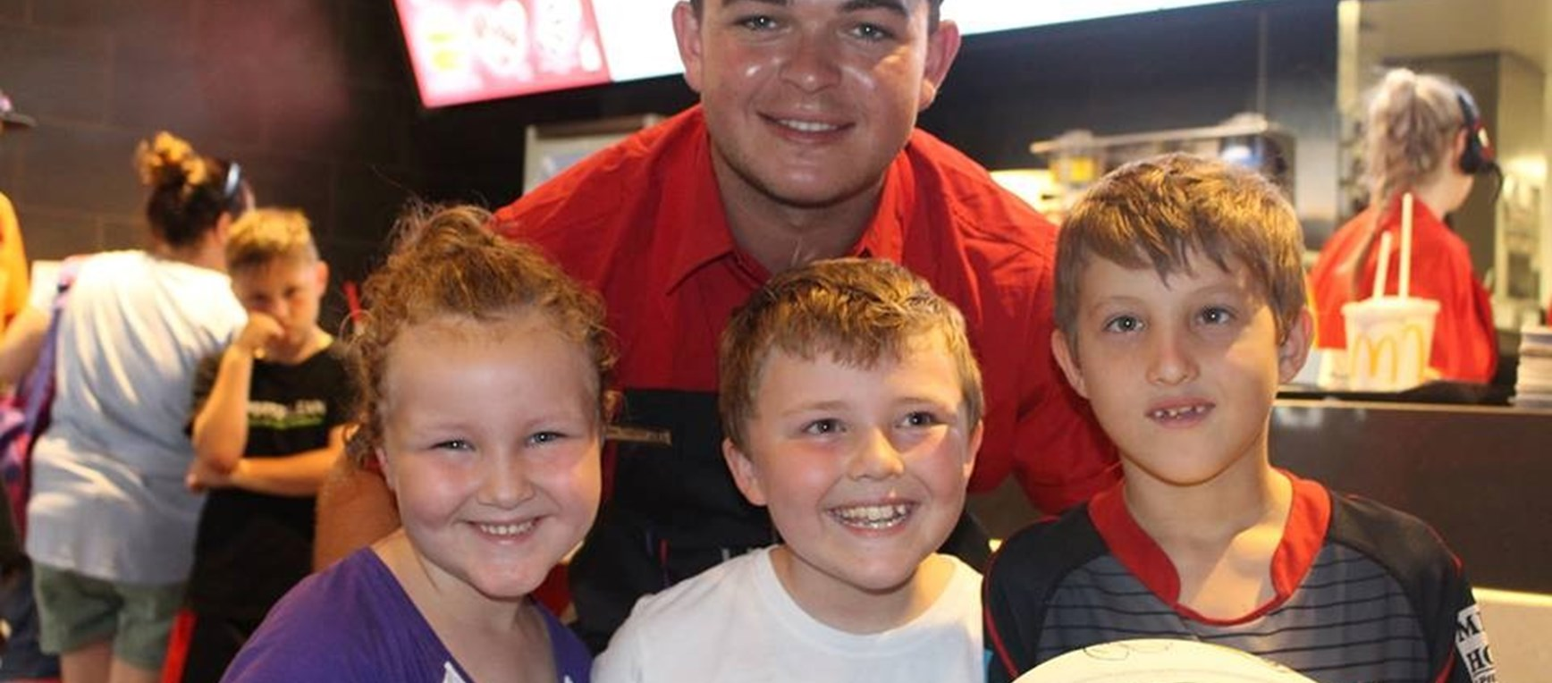 Ash Taylor swaps uniforms for McHappy Day