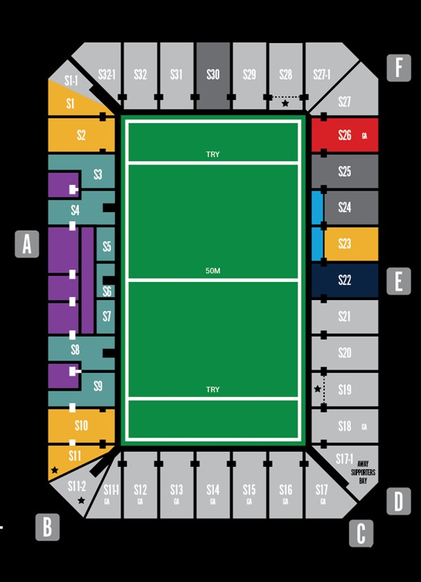 Gold Coast Titans Membership And Ticketing Seating Map