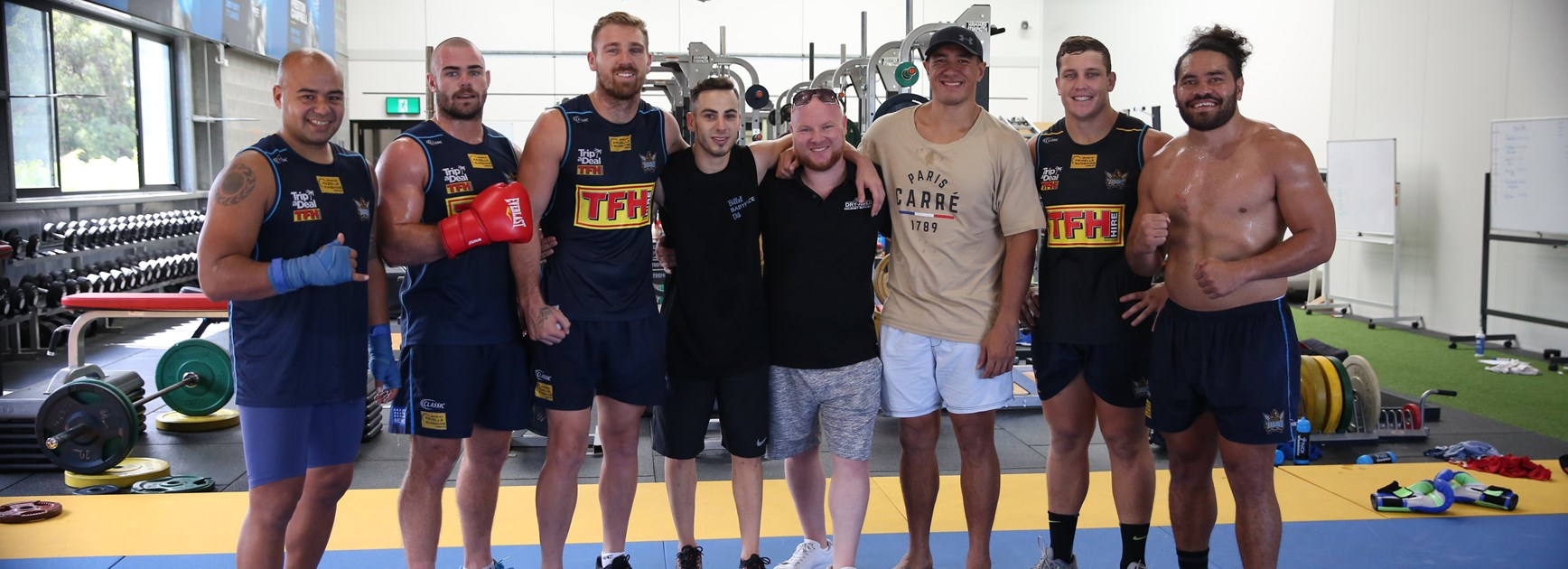 Titans welcome boxer Billel Dib