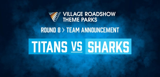Titans rep star recalled to the backline for the clash against the Sharks