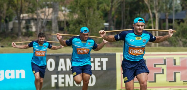 Titans senior group hit training paddock early for 2021